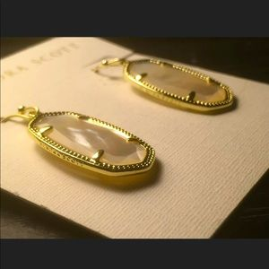 NWT KENDRA SCOTT Dani 14kGold Drops-Ivory Pearl